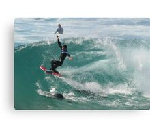 Dodging The Dolphins Canvas Print