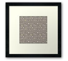 cosmos and stars. sepia Framed Print