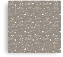 cosmos and stars. sepia Canvas Print