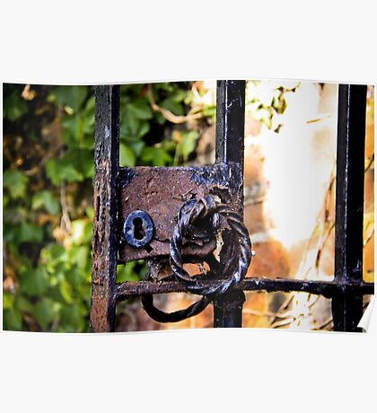 Old lock on a gate Poster