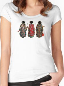 Tang Court Trio TShirt Women's Fitted Scoop T-Shirt