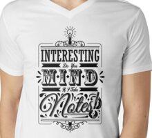 Interesting... Do You Mind If I Take Notes? Mens V-Neck T-Shirt