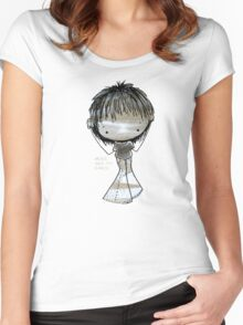 ...here are my ears!!! Women's Fitted Scoop T-Shirt