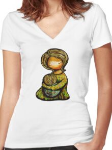 Madonna and Child TShirt Women's Fitted V-Neck T-Shirt