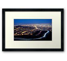 San Francisco Cityscape at Night Framed Print