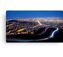 San Francisco Cityscape at Night Canvas Print
