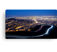 San Francisco Cityscape at Night Canvas Print