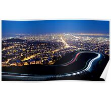 San Francisco Cityscape at Night Poster