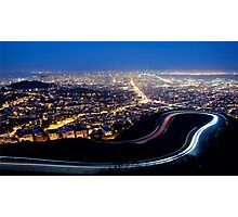 San Francisco Cityscape at Night Photographic Print