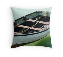The calm of the habour. Throw Pillow
