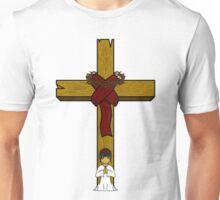 I Kneel At The Feet Of The Cross Unisex T-Shirt