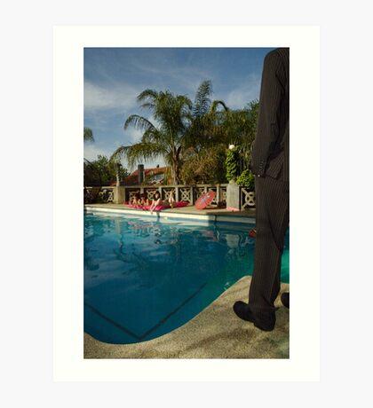 Swim Suit: Watching and waiting Art Print