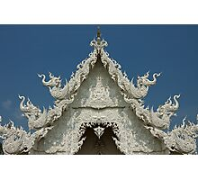 Wat Rong Khun  - The White Temple, Chiang Rai, Thailand Photographic Print