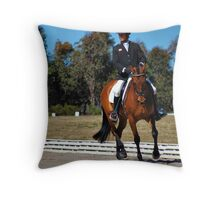 MALE RIDER (b) Throw Pillow