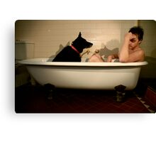 The Black Dog: Depression Canvas Print