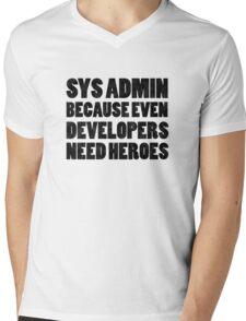 SysAdmin Mens V-Neck T-Shirt