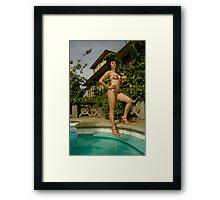 Bikini cocktail Framed Print