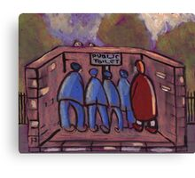 The public toilet Canvas Print