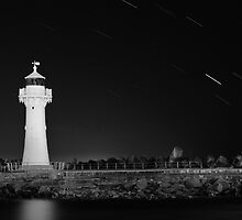 Lighthouse Startrails by Stephen Balson
