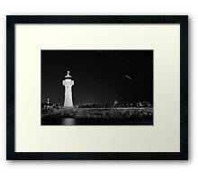 Lighthouse Startrails Framed Print