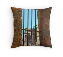 Inside Gaol Port Arthur Throw Pillow