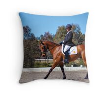MALE RIDER (f) Throw Pillow