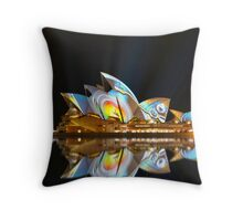 Sydney Opera House reflections Throw Pillow