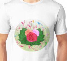 Roses and Swirls Unisex T-Shirt