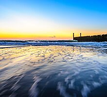 In the sea waves at Domburg beach, Holland by 7horses