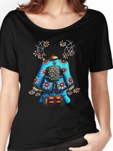 Asia Blue on Black TShirt by Karin Taylor Women's Relaxed Fit T-Shirt