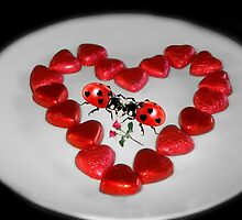 ♥VALENTINE HEARTS AND ROSES KISSING LADYBUGS...EVEN LADYBUGS FALL IN LOVE♥ by ✿✿ Bonita ✿✿ ђєℓℓσ