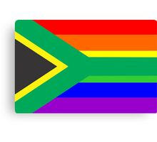 gay flag south africa Canvas Print