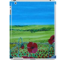 Red Inspiring Poppies - I Saw Some Across Countryside iPad Case/Skin