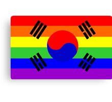 gay flag south korea Canvas Print