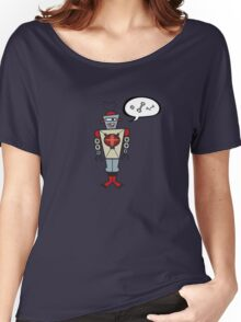 Robot Talking Nuts and Bolts Women's Relaxed Fit T-Shirt