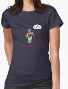 Robot Talking Nuts and Bolts Womens Fitted T-Shirt