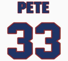 National baseball player Pete Hamm jersey 33 by imsport