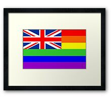 great britain gay flag Framed Print