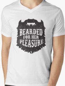 Beard Please Mens V-Neck T-Shirt
