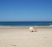 Nudist on the beach by daffodil