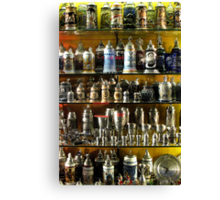 Beer Steins Canvas Print