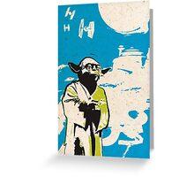 Yoda Blue Greeting Card