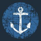 Anchor Sign Vintage Navy by theshirtshops