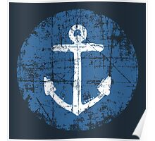 Anchor Sign Vintage Navy Poster
