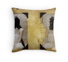 TWO PORTRAITS FOR THE LOST YOUTH Throw Pillow