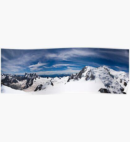Up Mont Blanc Panorama Poster