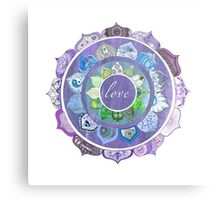 Positive Intentions Lotus Mandala Metal Print