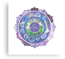 Positive Intentions Lotus Mandala Canvas Print