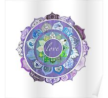 Positive Intentions Lotus Mandala Poster