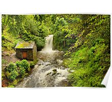 Rydal Hall Waterfall Poster
